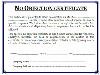 certificate of no objection - Etame.mibawa.co
